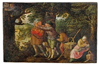 der nesträuber (allegorie auf den diebstahl) by david vinckboons