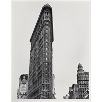 flatiron building, broadway and fifth avenue, new york by berenice abbott