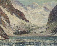 le lac lauvitel (dauphiné) by maxime maufra