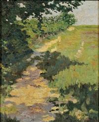 view of a sun-dappled road by yarnall abbott
