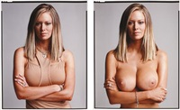 jenna jameson (clothed/nude) (diptych) by timothy greenfield-sanders