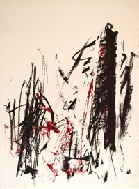 composition rouge by joan mitchell