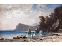 der strand von capri by friedrich wilhelm albert dressler