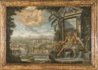 allegoria del po e della dora con veduta di torino e della caduta di fetonte nel po by italian school-piedmont (19)