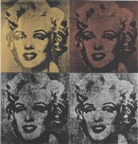 not warhol (four marilyns) (in 4 parts) by mike bidlo