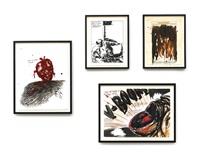 i. no title (keep a loaded...) (+ 3 others; 4 works) by raymond pettibon