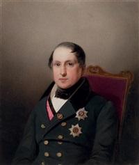 portrait of prince sergei mikhailovich golitzin by vladimir ivanovich hau