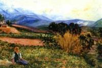 jeune berger kabile dans les pâturages by alphonse léon germain-thill