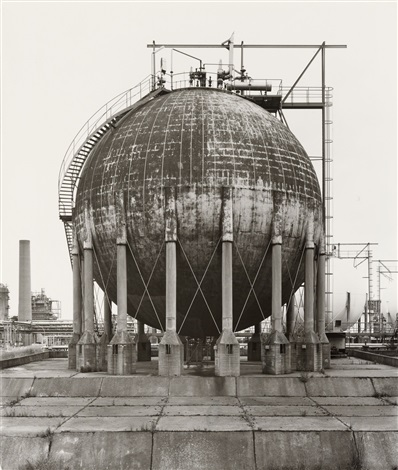 spherical gas tank, wesseling, near cologne, germany by bernd and hilla becher