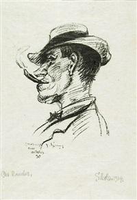 der raucher (h. sprung) by georg scholz