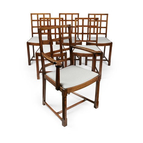 Marvelous Set Of Six Oak Dining Chairs Von Heal And Son Co Auf Artnet Caraccident5 Cool Chair Designs And Ideas Caraccident5Info