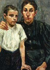 portrait of mother with son by maria-mela muter