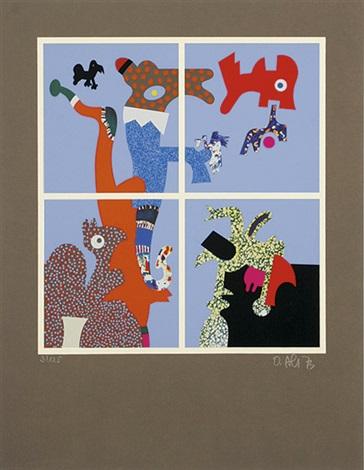 figürliche kompositionen und fabelwesen (11 works) by otmar alt