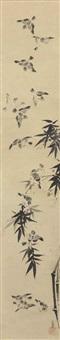 sparrows and bamboo by kano munenobu