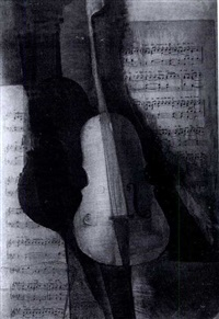 still life with a violin by rosina wachtmeister