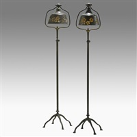 floor lamps (pair) by l.h. nash