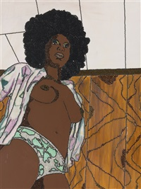 love to love you baby (from she works hard for the money pin-up) by mickalene thomas