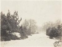 paysage en hiver by eugène cuvelier