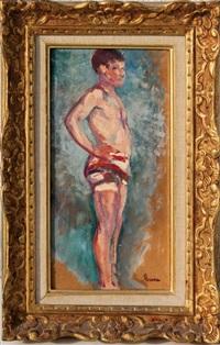 jeune baigneur by maximilien luce