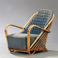 wicker chair af rattan by arne jacobsen