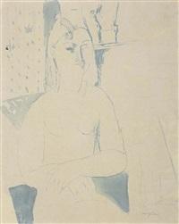 nudo di donna seduta by amedeo modigliani