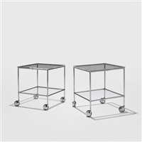 rolling occasional tables (pair) by paul rudolph