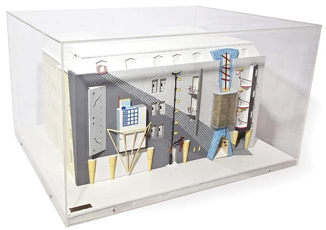 Modell Fassadenentwurf Für Das Möbel Geschäft Focus In München Von