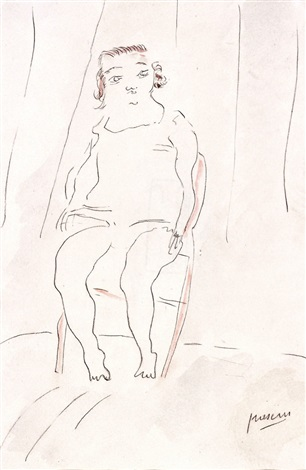 young girl seated by jules pascin
