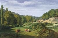 paesaggio con pastori a riposo by gaspard anrioud