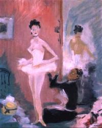 ballerina vor dem auftritt by gaston domergue