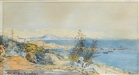 the north african coast and jebel musa (apes hill) from gibraltar by john miller (general sir) adye