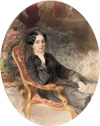 portrait of countess sophia andreevna shuvalov by vladimir ivanovich hau