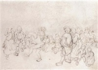 peasants dancing at a village feast by jan de groot the elder