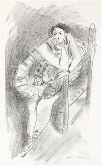 danseuse au fauteuil de bois (from dix danseuses) by henri matisse