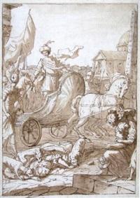 jehu triumphiert über die von hunden zerfleischte isebel by anton domenico gabbiani