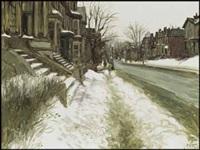 university street in better days by john geoffrey caruthers little