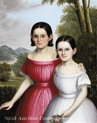 portrait of two sisters by william carroll saunders