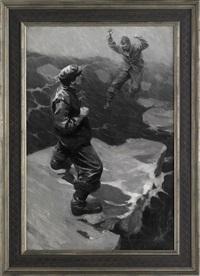 two men on an ice flow by thornton oakley