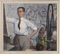portrait of an artist by bernhard gutmann