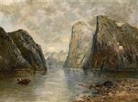 ein norwegischer fjord by georg anton rasmussen