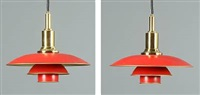 ph-3/2 pendants (pair) by poul henningsen