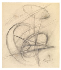ohne titel (sketch for sculpture) by antoine pevsner