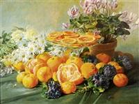 oranges et violettes by pierre garnier