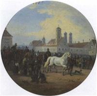 pferdemarkt bei der maxburg in münchen by alois bach