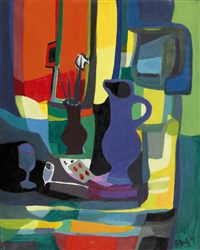 nature morte à la pipe en terre by marcel mouly