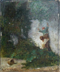 enfants faisant le mur by francois maurice reynaud
