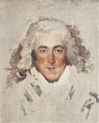 portrait of a gentleman, bust-length - unfinished by thomas lawrence