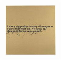 no room (gold) #52 by glenn ligon