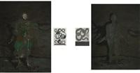 i. and ii. the blimp (a), iii. and iv. mathilda mother (e) (4 works) by thomas zipp