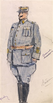 costume design for the operetta shumit sredizemnoe more by aleksandr grigor'evich tyshler